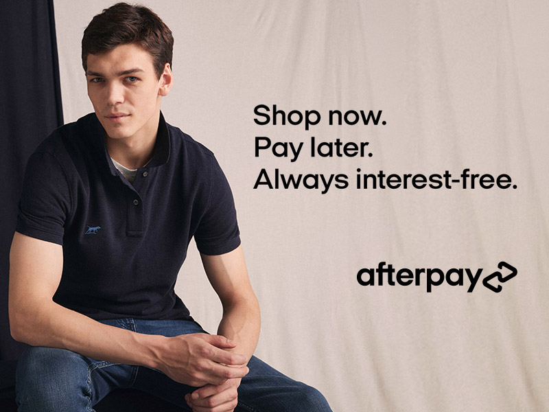 Header image - Shop now. Pay later. Alwyas intrest free. Afterpay