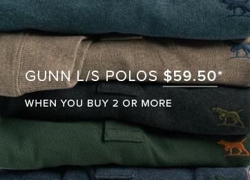 Shop Gunn Long Sleeve Polos